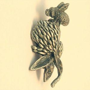 Vintage Marjolein Bastin Signed MB pewter brooch